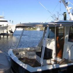 Image of a customized deck on a yacht's tender designed by Dennis Boatworks.