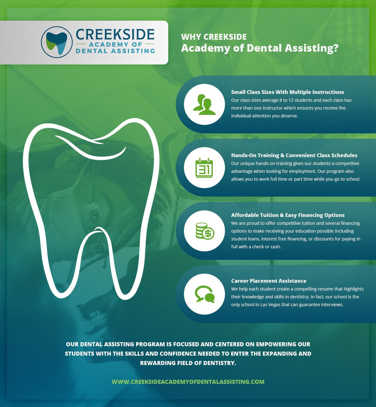Why Creekside Academy Of Dental Assisting Learn More Creekside