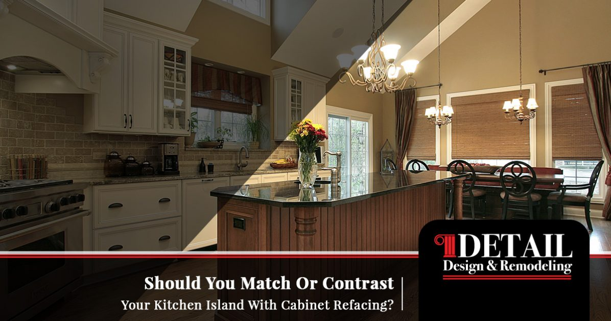 Cabinet Refacing Atlanta To Match Or Contrast The Kitchen Island