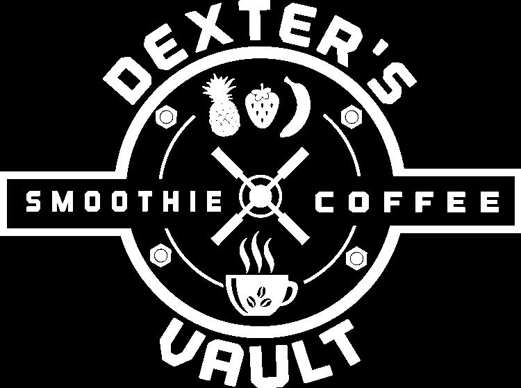 Dexter's Smoothie Coffee Vault Logo White