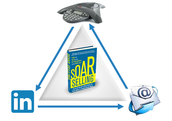 image of soar selling using social media email and telephone