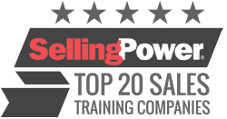image of dialexis award badge for selling power award for sales training