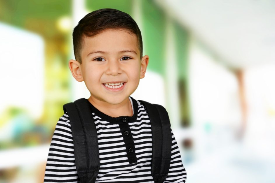Image of little boy wearing backpack
