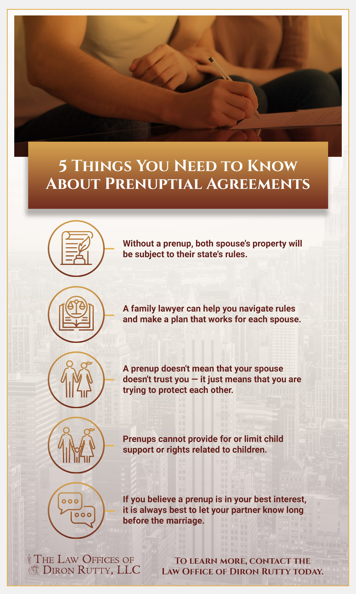 Infographic about prenuptial agreements