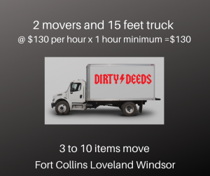Move just a few pieces of furniture in Fort Collins, Loveland, and Windsor