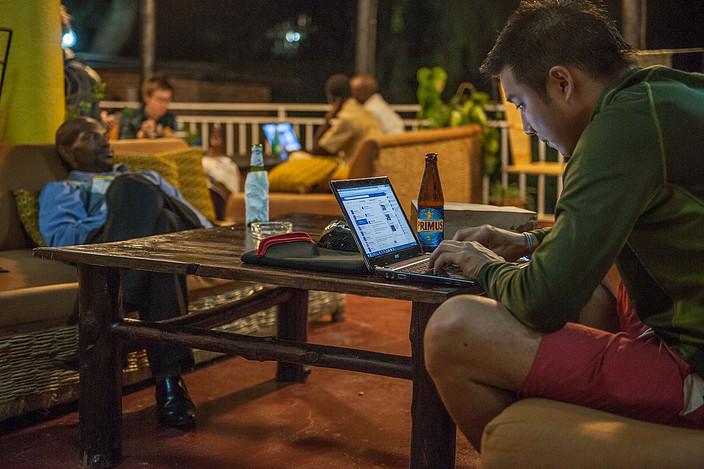 Comfortable veranda at Discover Rwanda Hostels in Kigali