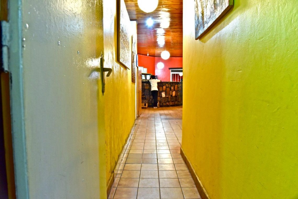 Discover Rwanda Kigali Hostel Corridor