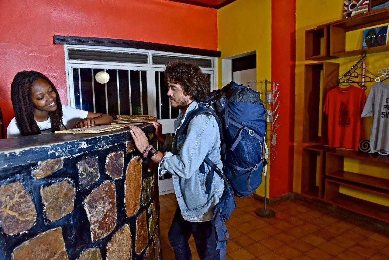 Discover Rwanda Kigali Hostel Reception