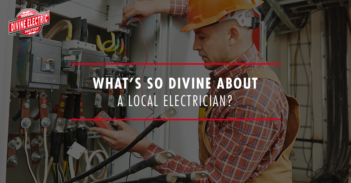 What's so divine about a local electrician? banner