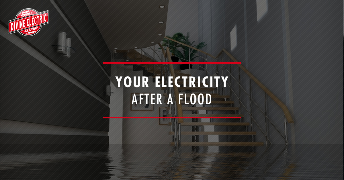 A banner for your electricity after a flood.