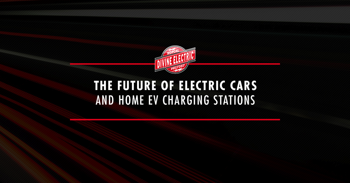 "A picture of lasers overlaid with the words ""The future of electric cars and home ev charging stations"""