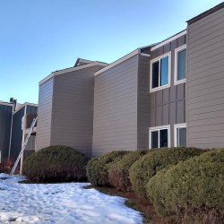 Apartment complex new siding with ColorPlus products - DJK Construction
