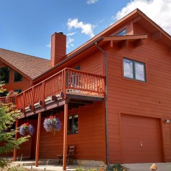 Home with stained fiber cement lap siding in Colorado Springs - DJK Construction