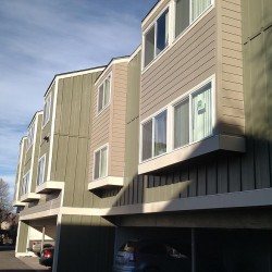 Multi-family complex new siding installation with James Hardie siding - DJK Construction