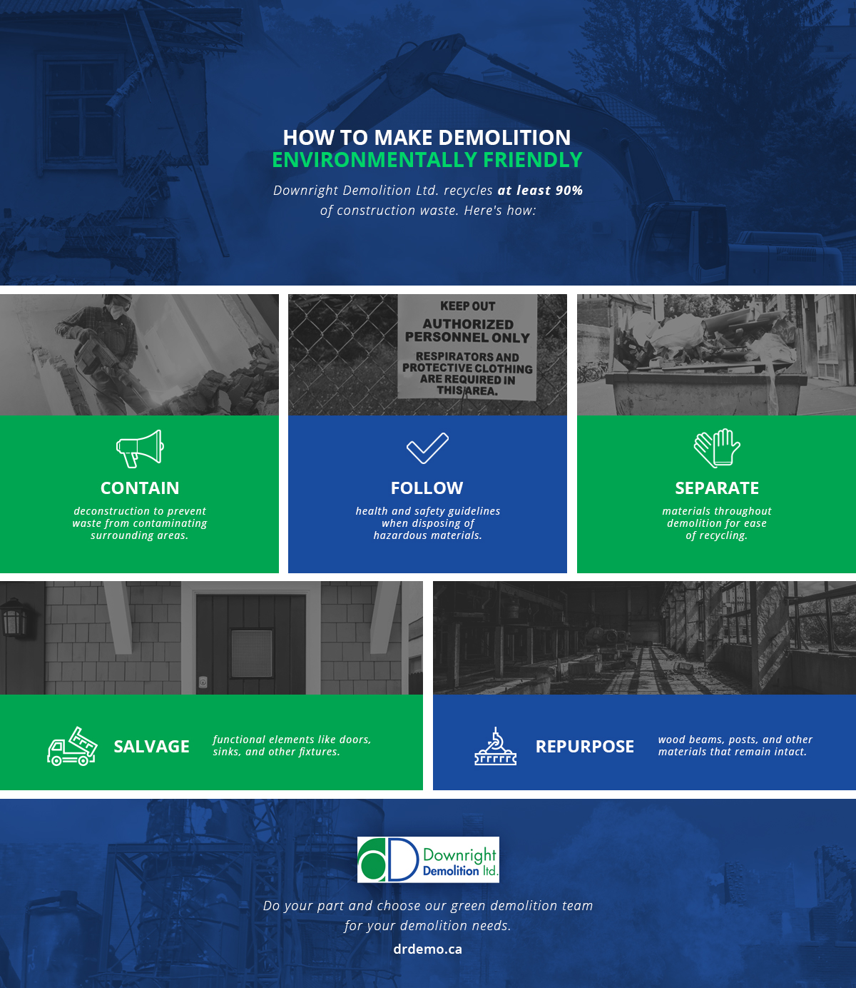 Infographic: How to Make Demolition Environmentally Friendly