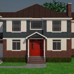 3D Rendering Home Front Perspective