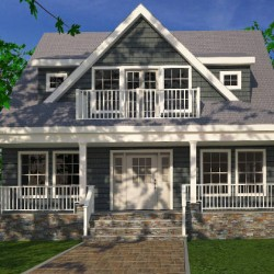 3D Rendering of Home Front Door