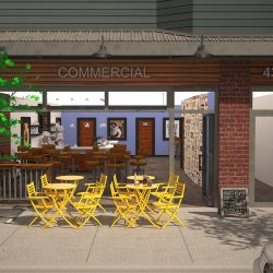 3D Rendering of Cafe