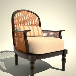 3D Model Rendering of Chair