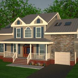 Home Facade 3D Rendering