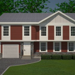 3D Rendering of House Front