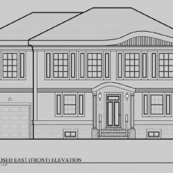 Home Elevation Architectural Drawing