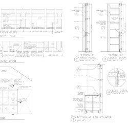 Architectural Draft With Plan and Sections