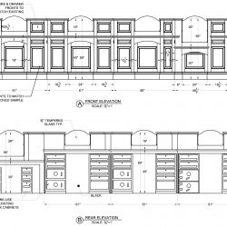 Shop Drawing of Wood Cabinets