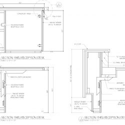 Reception Desk Shop Drawing