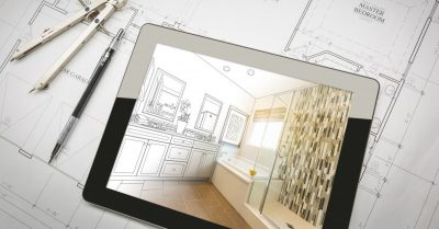 CAD Design on a Tablet and Blueprints