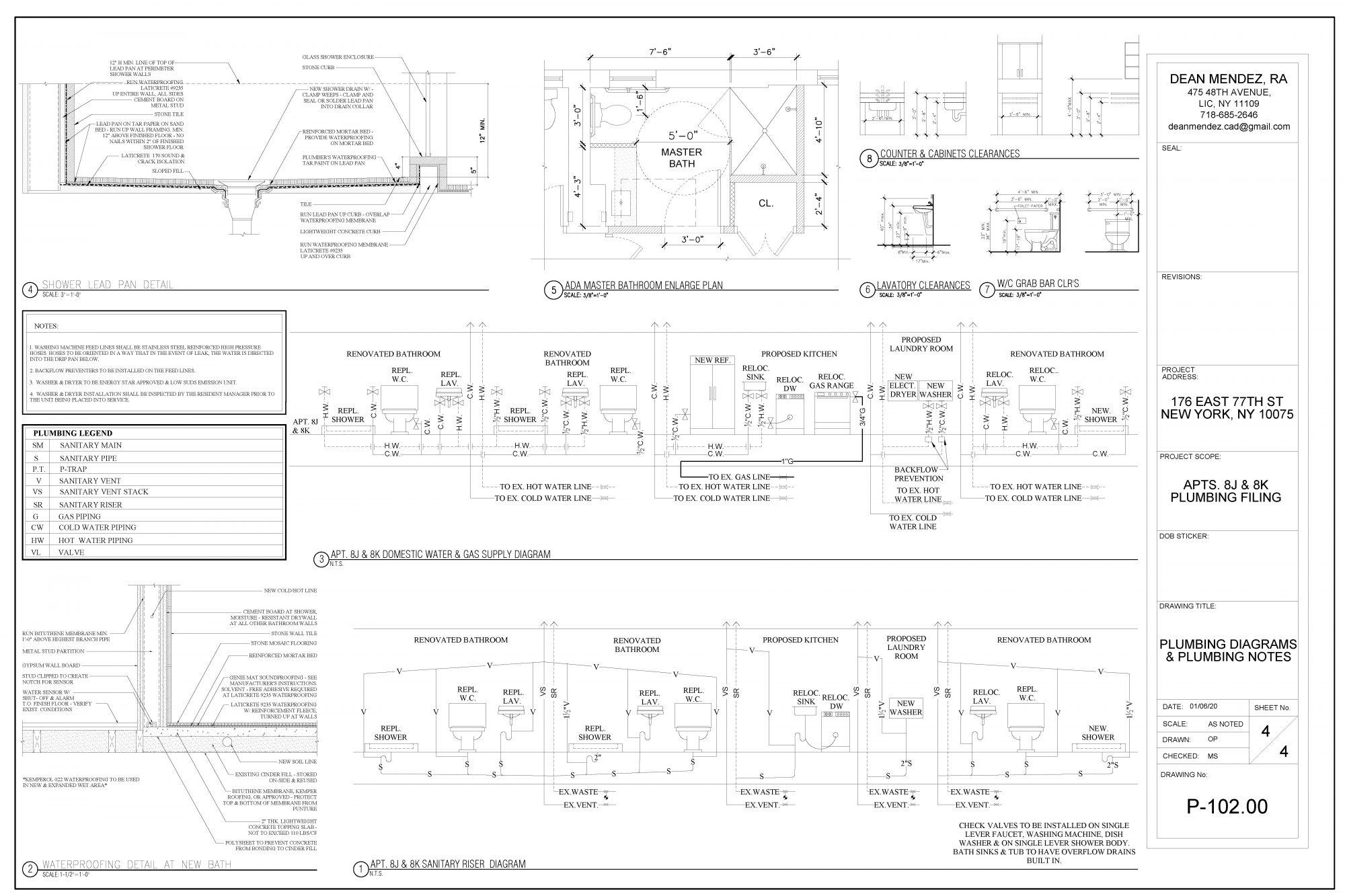 Interior Renovation Bathroom Plan Drawing