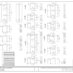 Detail Steel Shop Drawing for 336 East 15th St.