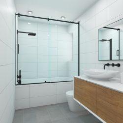 3D Rendering of Modern Bathroom