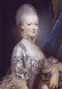 A pastel of the young Maria Antonia sent to the Dauphin ahead of their marriage.