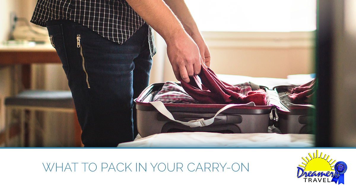Get tips on what to pack in your carry-on from our Maryland travel agents