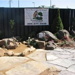 custom flagstone installation