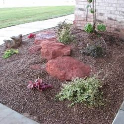 flower bed boulders