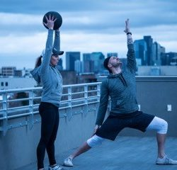 Our Duality Fit instructors practice yoga and strength training on top of our studio in Sloan Lake.