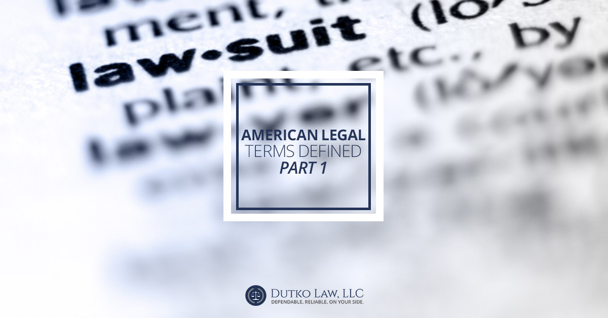 American Legal Terms Defined | Kutztown Criminal Justice