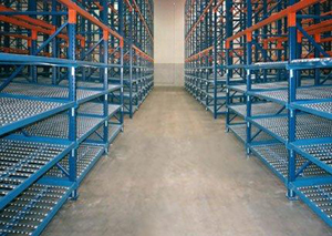 Carton flow with pallet rack system above