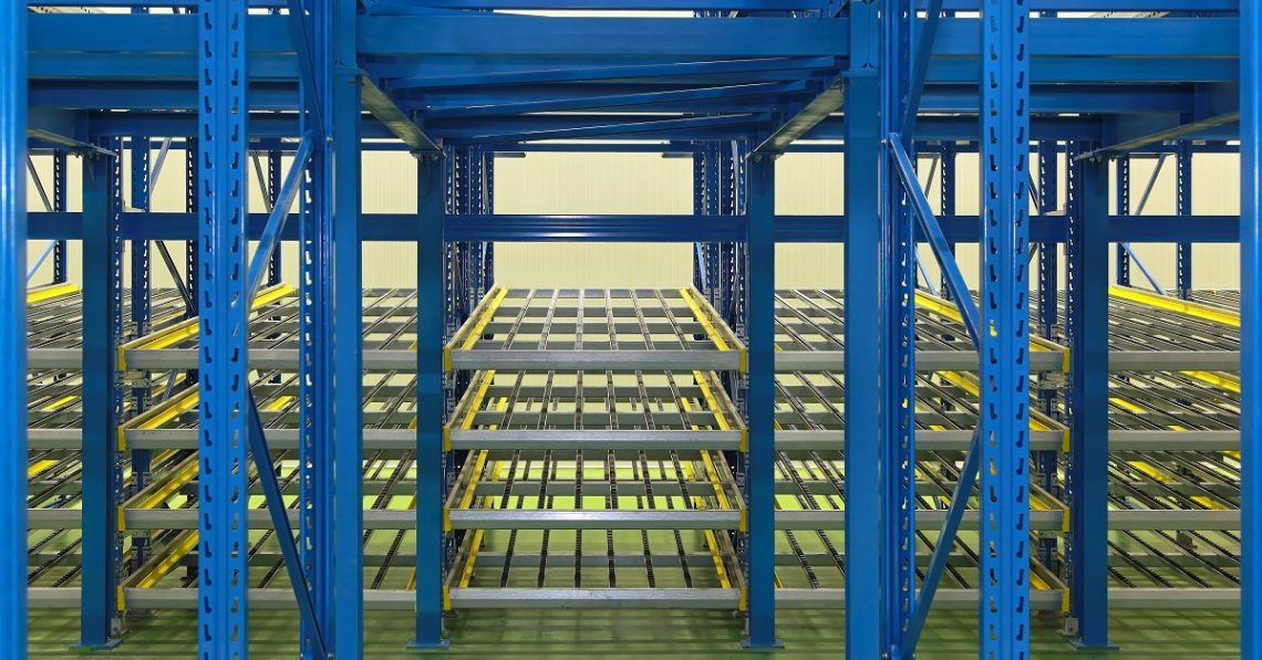 Warehouse Pallet Flow Roller Rack - E-Distribution