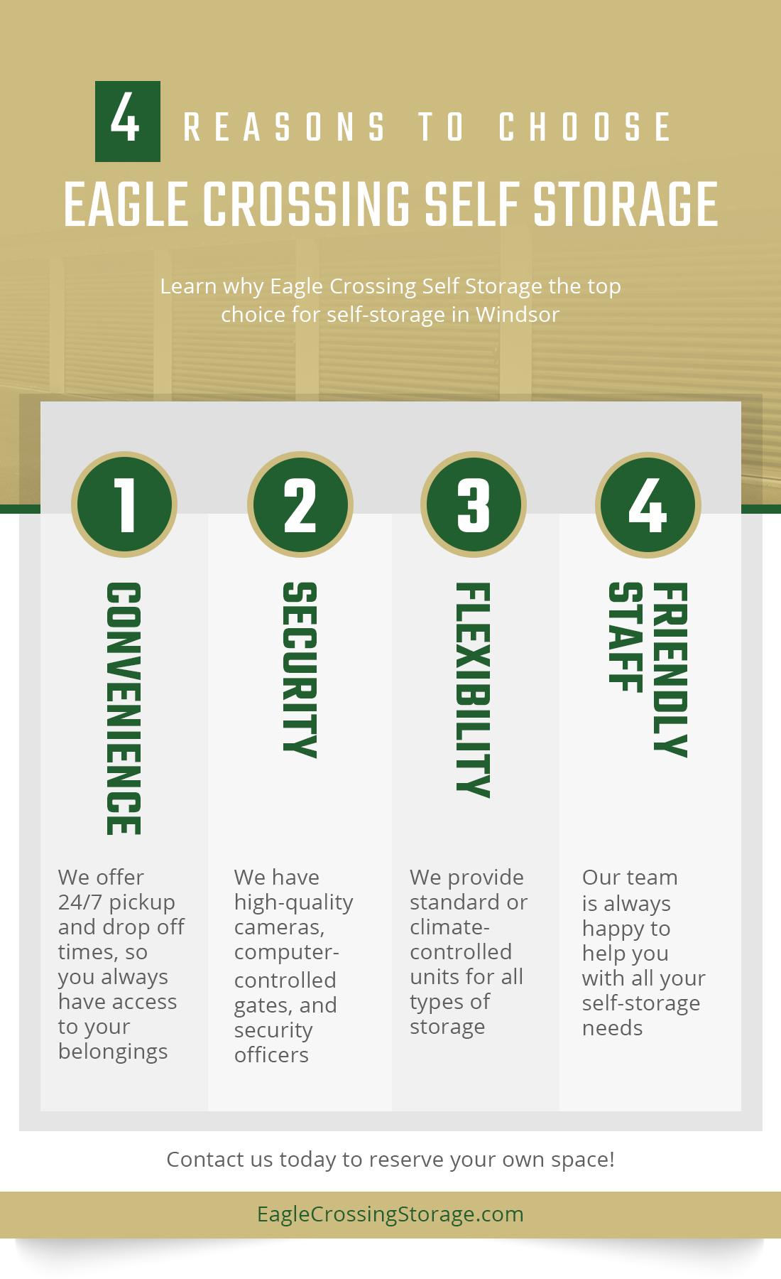 4 Reasons To Choose Eagle Crossing Self Storage