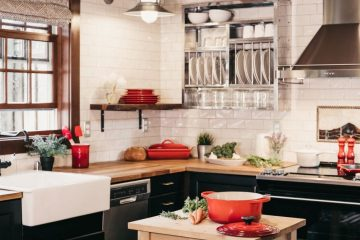 beautiful kitchen staged for sale