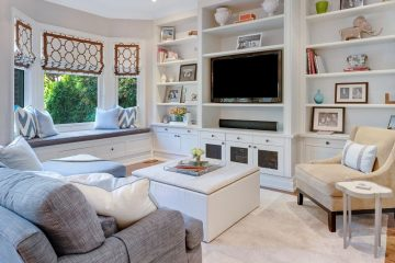 living room staged for home sale