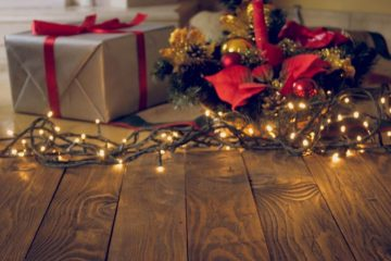 holiday lights and gifts