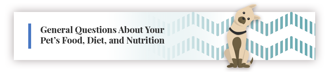 General Questions About Your Pet's Food, Diet, and Nutrition