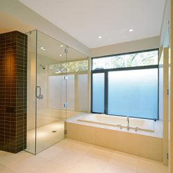Frameless shower doors and shower door hardware.