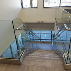 Commercial glass panels from a Colorado glass company.
