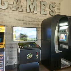 Apartment clubhouse with arcade games - Elements at Prairie Center