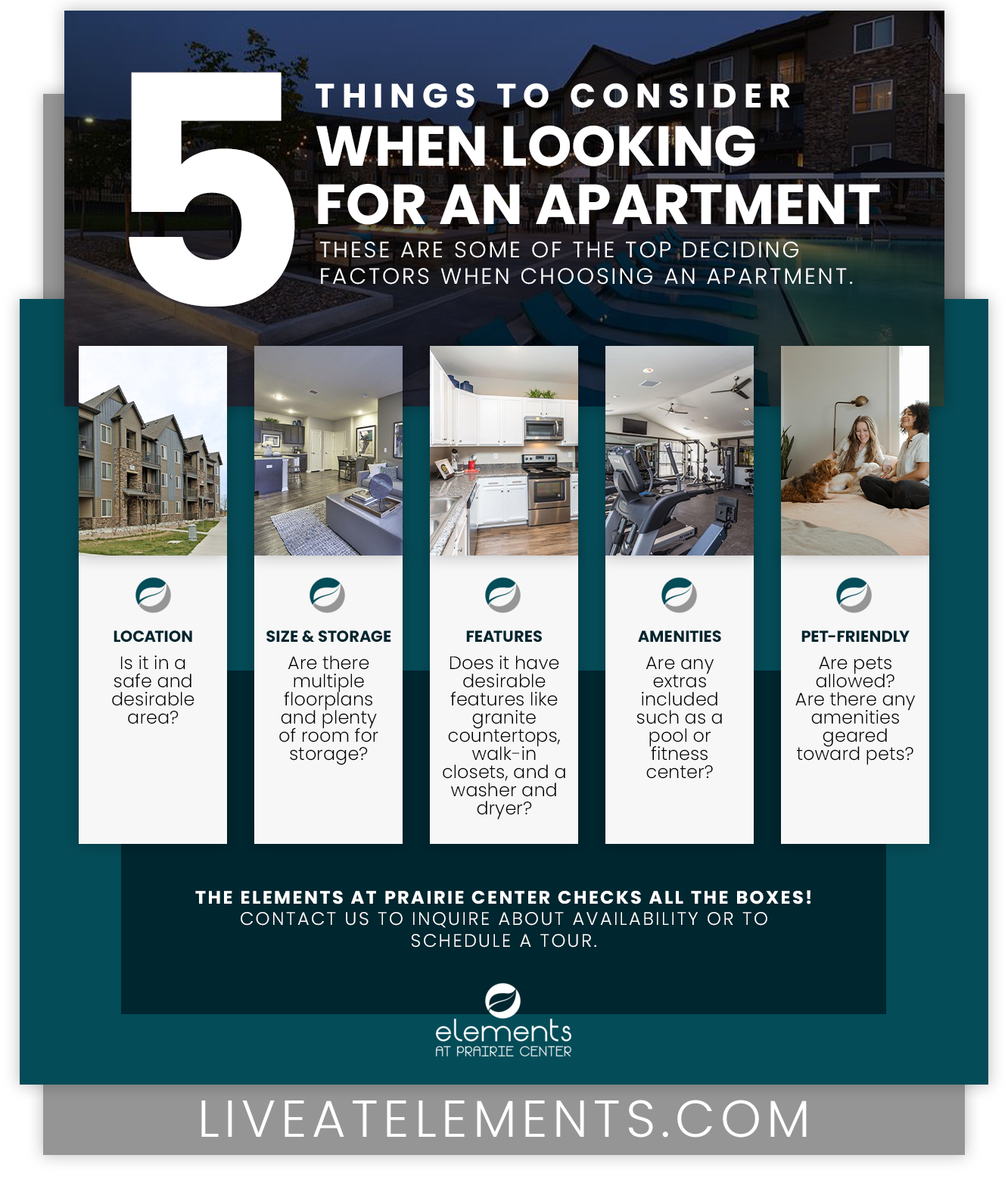 Five Things To Consider When Looking For an Apartment